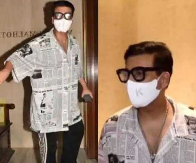karan-johar-wears-newspaper-printed-shirt-in-at-ma